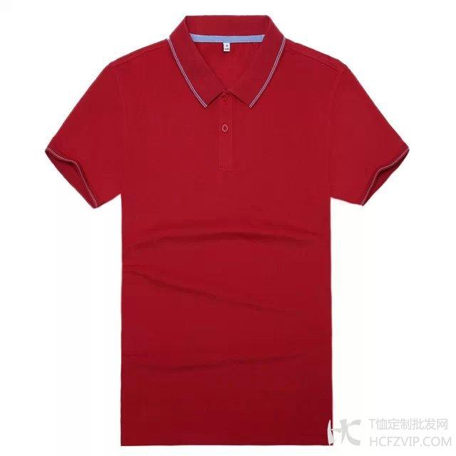 红色竹炭纤维翻领广告衫
