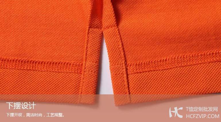 纯棉polo衫下摆细节